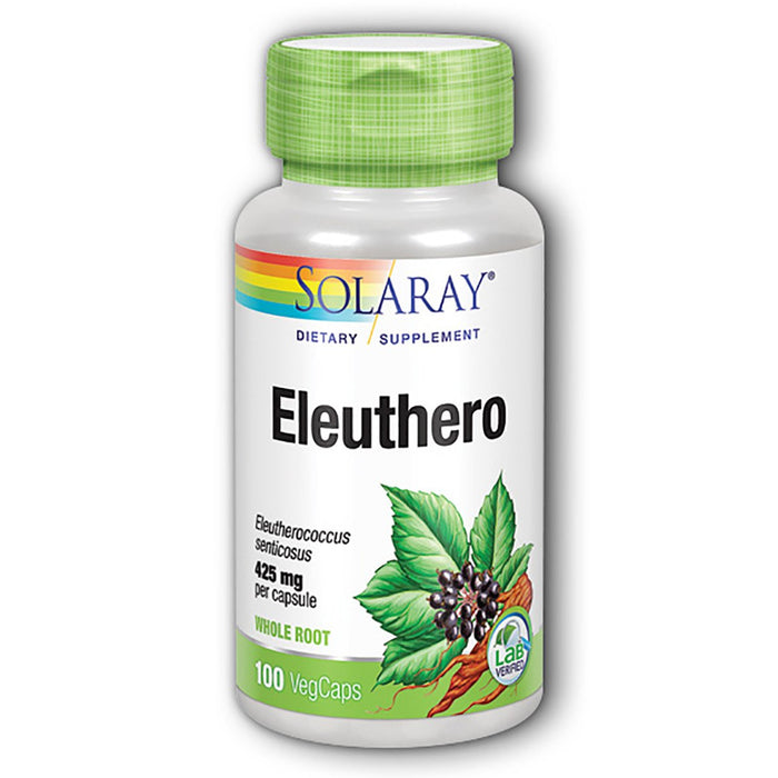 Solaray Vitamins, Minerals, Herbs & More Solaray Eleuthero (Siberian Ginseng Root) 425mg 100 caps (580505075756)