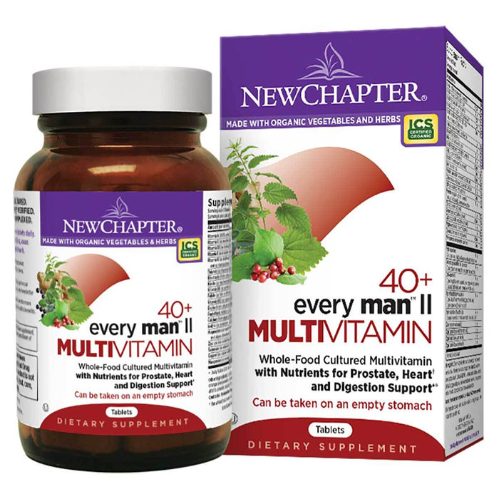 New Chapter Vitamins, Minerals, Herbs & More New Chapter Every Man II Multivitamin 40+ 48 Tabs (581314052140)