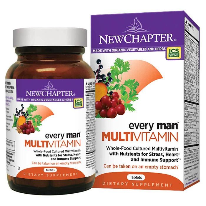 New Chapter Vitamins, Minerals, Herbs & More New Chapter Every Man Multivitamin 120 Tabs (581200609324)