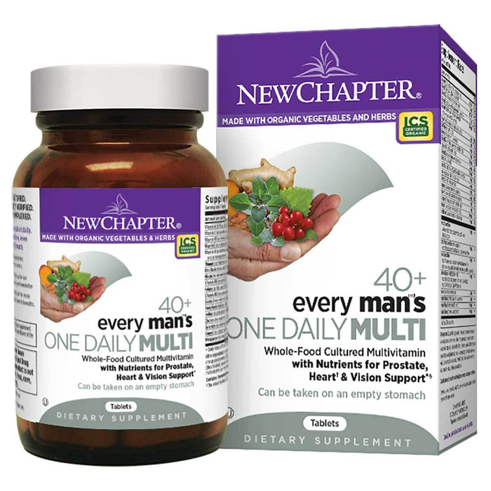 New Chapter Vitamins, Minerals, Herbs & More New Chapter Every Man's One Daily 40+ 48 Tabs (581393252396)