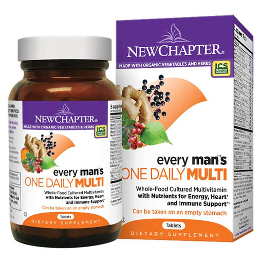New Chapter Vitamins, Minerals, Herbs & More New Chapter Every Man's One Daily 72 Tabs (581199429676)