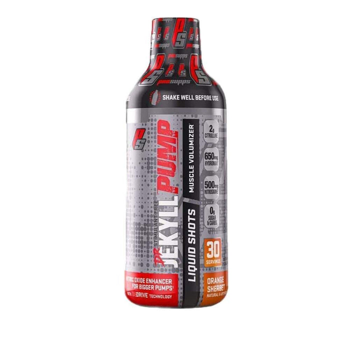 Pro Supps Nitric Oxide ORANGE SHERBET Pro Supps Dr Jekyll Pump Liquid Shots 30SV (4176063954988)