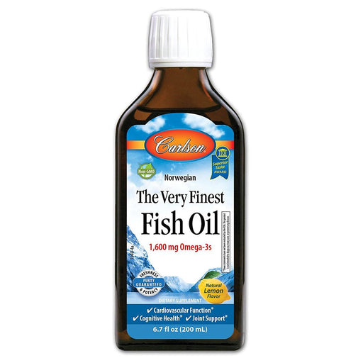 Carlson Vitamins, Minerals, Herbs & More Carlson Finest Fish Oil Liquid Omega 3 Lemon Flavor 200mL (580665868332)