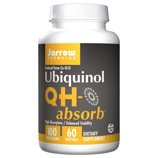 Jarrow Formulas Vitamins, Minerals, Herbs & More Jarrow Formulas QH-absorb Ubiquinol 100mg 60 Softgels (581526257708)