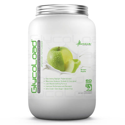 Metabolic Nutrition Sports Nutrition & More Green Apple Metabolic Nutrition Glycoload 60 Servings