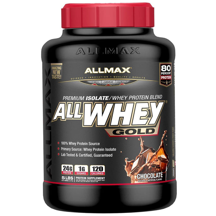 Allmax Nutrition Sports Nutrition & More Chocolate Allmax Nutrition AllWhey Gold 5 Lbs (581219516460)