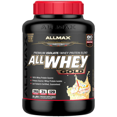 Allmax Nutrition Sports Nutrition & More Birthday Cake Allmax Nutrition AllWhey Gold 5 Lbs (581219516460)
