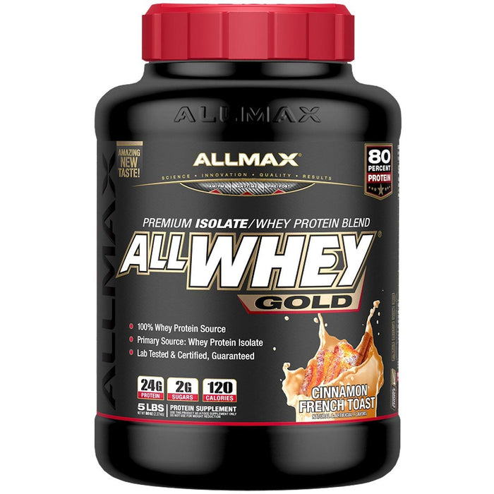 Allmax Nutrition Sports Nutrition & More Cinnamon French Toast Allmax Nutrition AllWhey Gold 5 Lbs (581219516460)