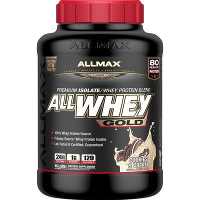 Allmax Nutrition Sports Nutrition & More Cookies & Cream Allmax Nutrition AllWhey Gold 5 Lbs (581219516460)