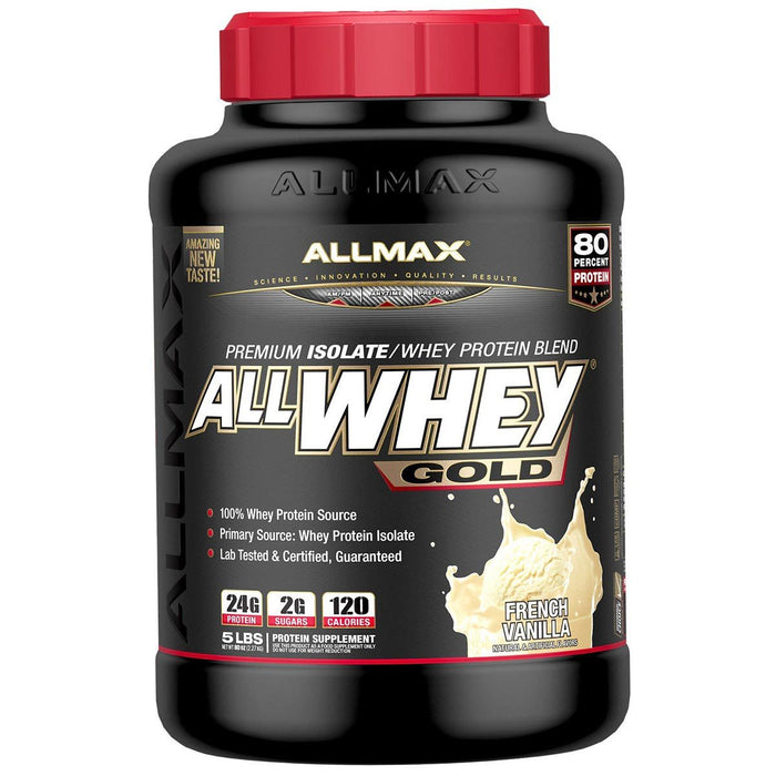 Allmax Nutrition Sports Nutrition & More French Vanilla Allmax Nutrition AllWhey Gold 5 Lbs (581219516460)