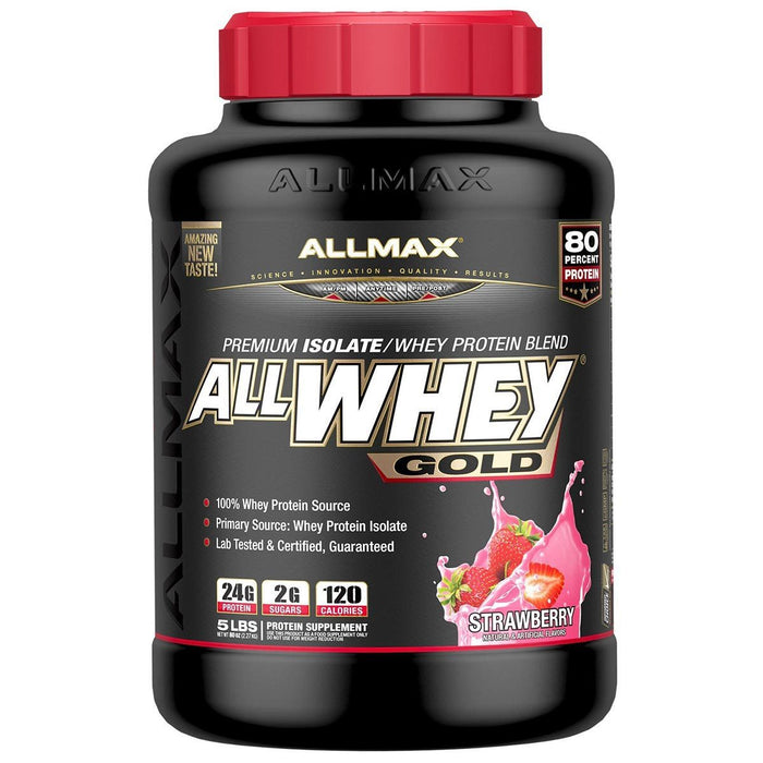 Allmax Nutrition Sports Nutrition & More Strawberry Allmax Nutrition AllWhey Gold 5 Lbs (581219516460)