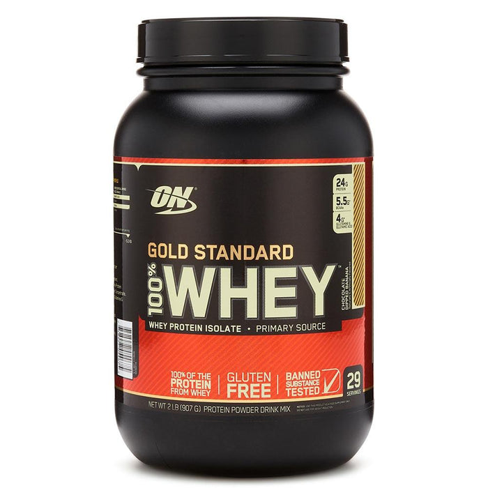 Optimum Nutrition Sports Nutrition & More Chocolate Dipped Banana Optimum Nutrition 100% Whey Protein Gold 2 Lbs | Build Muscle & Strength (580567695404)