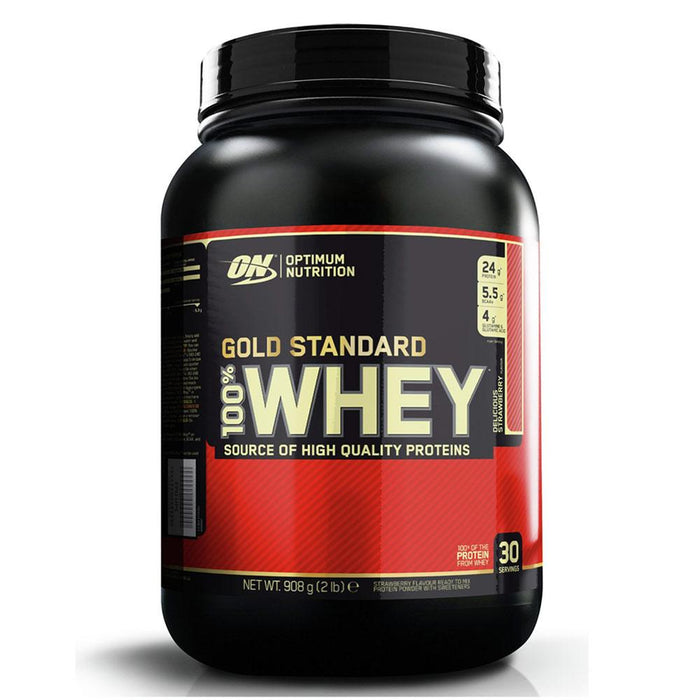 Optimum Nutrition Sports Nutrition & More Strawberry Optimum Nutrition 100% Whey Protein Gold 2 Lbs | Build Muscle & Strength (580567695404)
