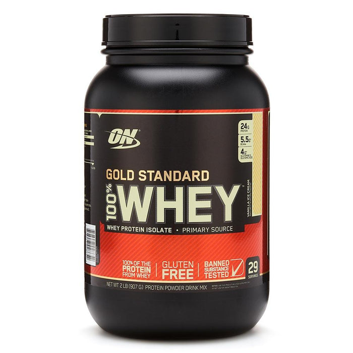 Optimum Nutrition Sports Nutrition & More Vanilla Ice Cream Optimum Nutrition 100% Whey Protein Gold 2 Lbs | Build Muscle & Strength (580567695404)