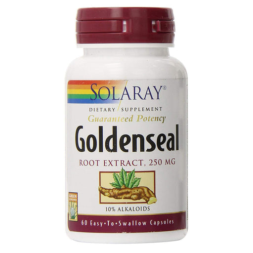 Solaray Vitamins, Minerals, Herbs & More Solaray Goldenseal Root Extract 250mg 60 Caps (580628414508)