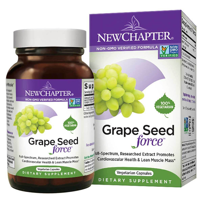 New Chapter Vitamins, Minerals, Herbs & More New Chapter Grape Seed Force 30 Vege Caps (581279744044)
