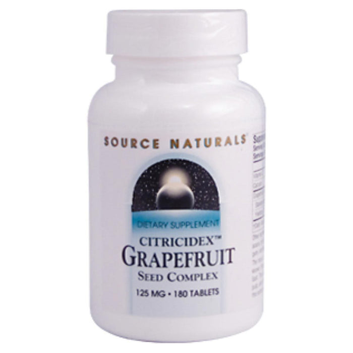 Source Naturals Vitamins, Minerals, Herbs & More Source Naturals Grapefruit Seed Extract Citricidex 125mg 180 Tablets (580590370860)