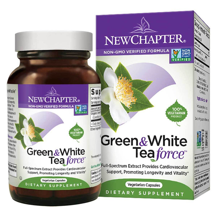 New Chapter Vitamins, Minerals, Herbs & More New Chapter Green & White Tea Force 60 Vege Caps (581277876268)