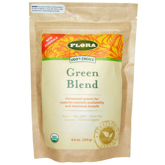 Flora (Udo's Choice) Vitamins, Minerals, Herbs & More Flora Udo's Choice Green Blend 9oz (581241864236)