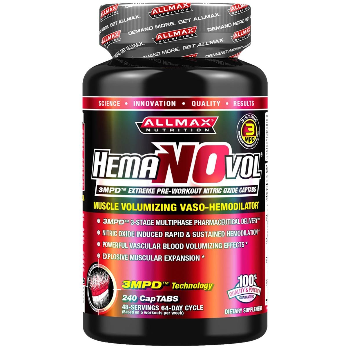 Allmax Nutrition Sports More HemaNOvol 240 CapTabs