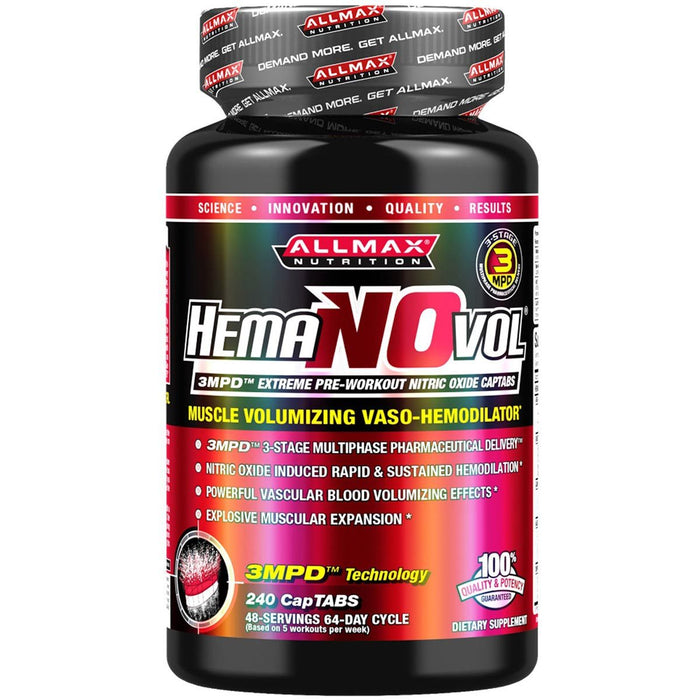 Allmax Nutrition Sports Nutrition & More Allmax Nutrition HemaNOvol 240 CapTabs (581222400044)