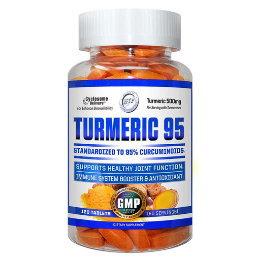 Hi-Tech Pharmaceuticals Herbs Default Hi Tech Pharmaceuticals Turmeric 95 120T (1789627105324)