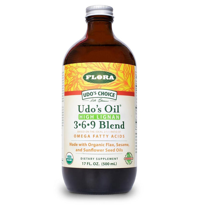 Flora (Udo's Choice) Vitamins, Minerals, Herbs & More Flora Udo's Choice High Lignan 3 6 9 Oil Blend 17oz (580687101996)