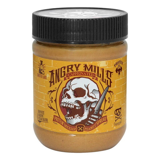 Sinister Labs Sports Nutrition & More Angry Mills Caffeinated Protein Infused Peanut Butter Spread Honey Grim Cracker (582646825004)