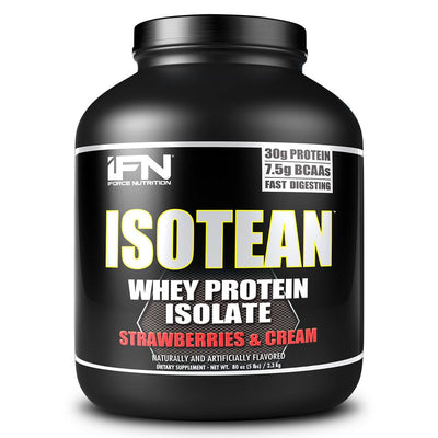 IFORCE Protein Powders Strawberries & Cream iForce Isotean 5 Lbs (1447403323436)