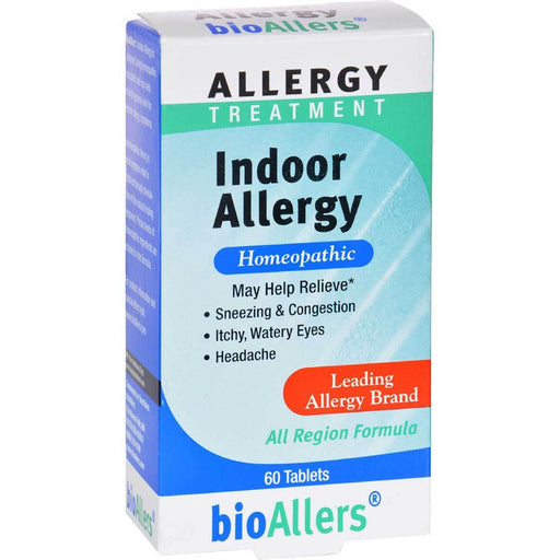 Natra-Bio Vitamins, Minerals, Herbs & More Natra-Bio Bioallers Indoor Allergy 60 Tablets (580821221420)