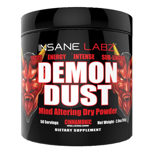 Insane Labz Sports Performance Recovery Cinnamonic INSANE Demon Dust 50 Servings (1693068329004)