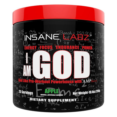 Insane Labz Sports Performance Recovery Apple INSANE I am God 25 Servings (1693065674796)