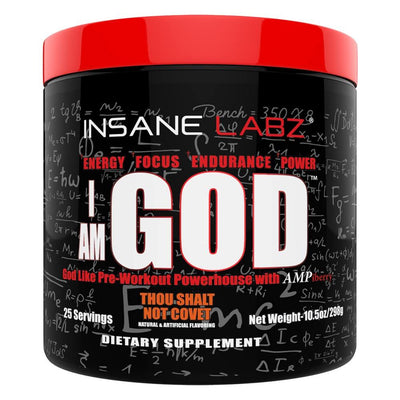 Insane Labz Sports Performance Recovery Thou Shalt Not Covet INSANE I am God 25 Servings (1693065674796)