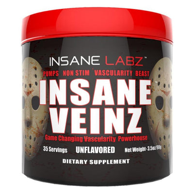Insane Labz Sports Performance Recovery Unflavored Insane Labz Insane Veinz 35 Servings (1693060431916)