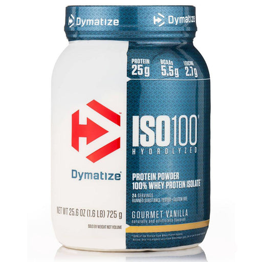 Dymatize Sports Nutrition & More Strawberry Dymatize ISO 100 Hydrolyzed Whey 1.6Lbs (581469405228)