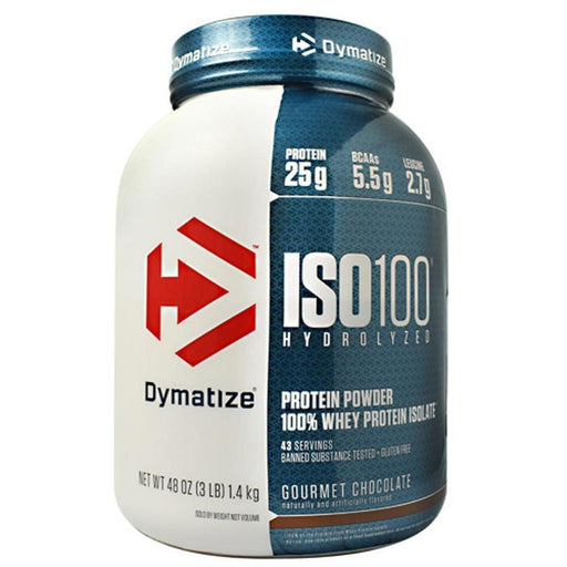 Dymatize Sports Nutrition & More Gourmet Chocolate Dymatize ISO-100 3 Lbs (581485985836)