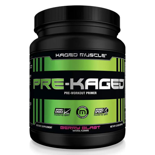 Kaged Muscle Sports Nutrition & More Berry Blast Kaged Muscle Pre-Kaged 20 Servings (1315005825068)