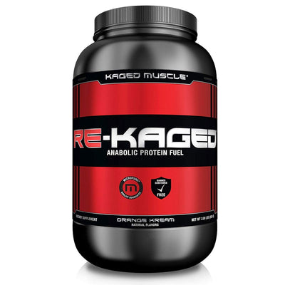 Kaged Muscle Protein Powders Orange Cream Kaged Muscle Re-Kaged 20 Servings (1315231334444)