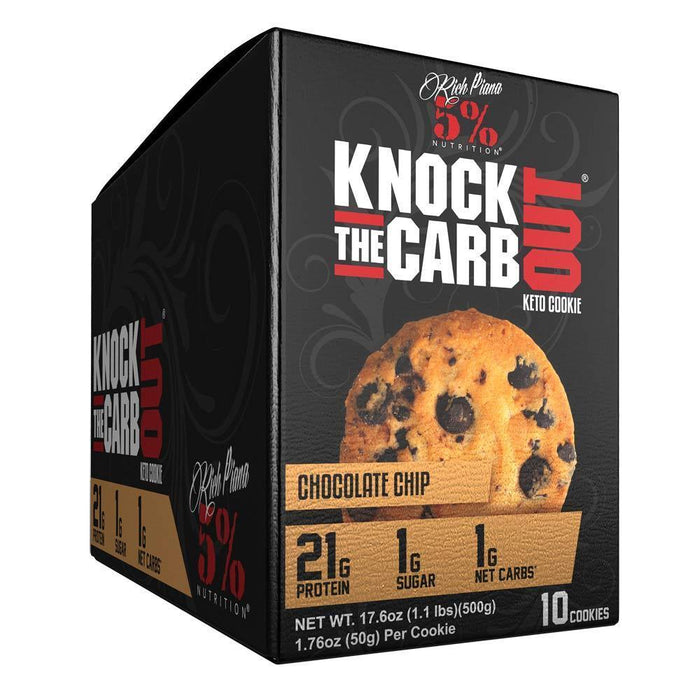 5% Nutrition Foods Juices Chocolate Chip 5% KTCO Cookies 10/box (4285059104812)