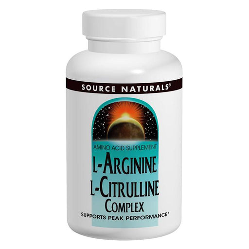 Source Naturals Sports Nutrition & More Source Naturals L-Arginine/L-Citrulline Complex 1000mg 60 Tabs (580847009836)