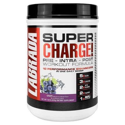 Labrada Nutrition Unclassified Grape LAB Super Charge! 25 Servings (1764092051500)