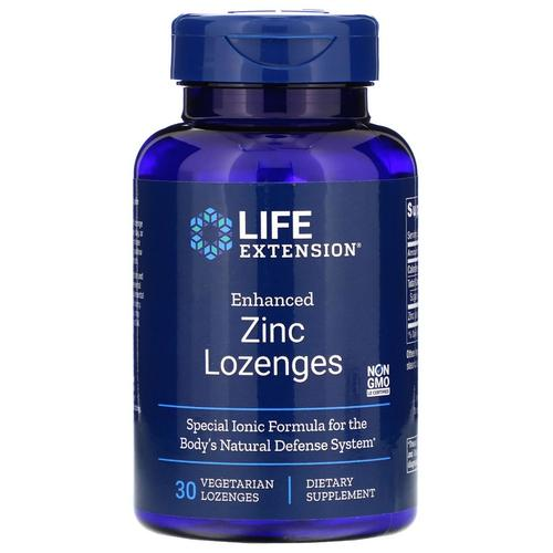Life Extension Vitamins, Minerals, Herbs & More Life Extension Enhanced Zinc Lozenges 30 Lozenges (582097731628)