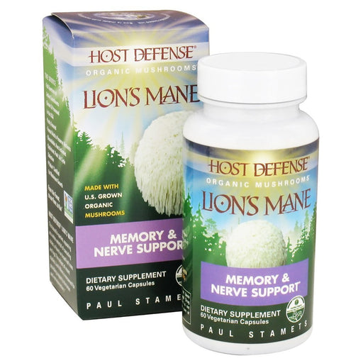 Fungi Perfect Vitamins, Minerals, Herbs & More Fungi Perfect Host Defense Lion's Mane 60 Vege Caps (582470533164)