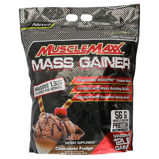 MuscleMaxx Sports Nutrition & More Chocolate Fudge MuscleMaxx MuscleMaxx Gainer 12 Lbs (581406261292)