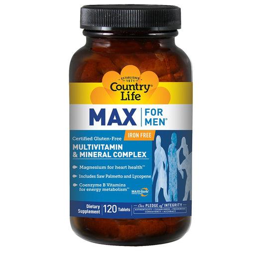 Country Life Vitamins, Minerals, Herbs & More Country Life Max for Men Time Released (2 Per Day) 120 tabs (581177245740)