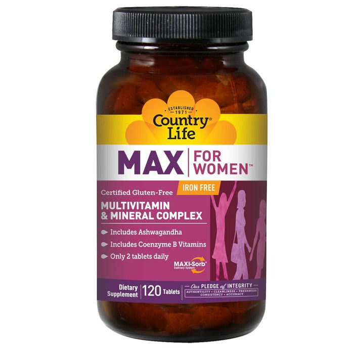 Country Life Vitamins, Minerals, Herbs & More Country Life Maxine Time Released for Women 120 tabs (581176786988)