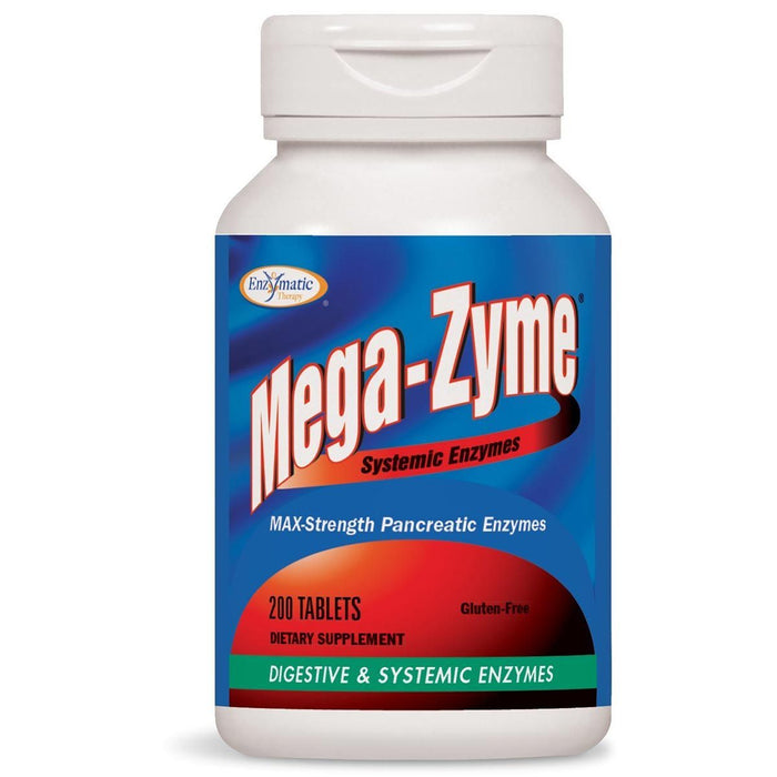 Enzymatic Therapy Vitamins, Minerals, Herbs & More Enzymatic Therapy Mega-Zyme 10x Original Formula 200 Tabs (580572905516)