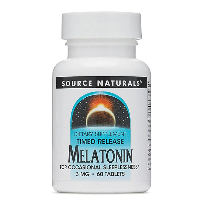 Source Naturals Vitamins, Minerals, Herbs & More Source Naturals Melatonin Timed Release 3mg 60 Tabs (581441880108)