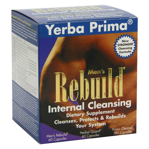 Yerba Prima Vitamins, Minerals, Herbs & More Yerba Prima Men's Rebuild (colon cleanser) 1 Box (580497997868)