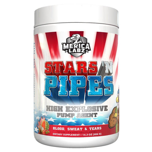 'Merica Labz Nitric Oxide Blood, Sweat & Tears MERICA LABZ STAR 'N PIPES (1759737937964)